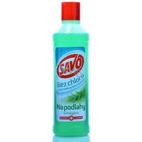 Savo Eukalyptus bez chloru tekutý čistící a dezinfekčí přípravek na podlahy 1 l