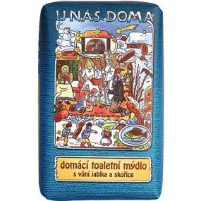 Bohemia Gifts & Cosmetics Josef Lada Jablko a Skořice U nás doma toaletní mýdlo s glycerinem 220 g