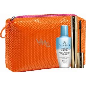 Collistar Infinito Mascara řasenka Extra Nero 11 ml + dvoufázový odličovač 50 ml + kosmetická taštička, kosmetická sada