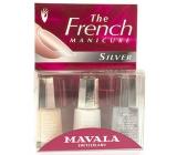 Mavala French Manicure Silver francouzská manikúra lak na nehty 3 x 5 ml