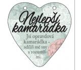 Albi Závěsná plaketka srdce Nejlepší kamarádka 9 cm × 10 cm.