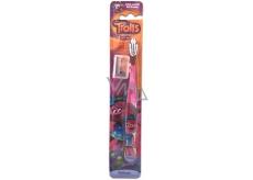 Trollové měkký zubní kartáček s krytem pro děti od 3 let