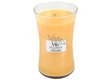 WoodWick Seaside Mimosa - Mimóza na pobřeží vonná svíčka s dřevěným knotem a víčkem sklo velká 609,5 g