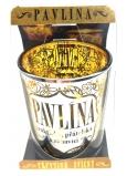 Albi Třpytivý svícen ze skla na čajovou svíčku PAVLÍNA, 7 cm