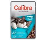 Calibra Premium Rybí maso kousky v delikátní omáčce kompletní krmivo pro kočky kapsa 100 g