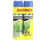 Gillette Mach 3 Sensitive gel na holení pro citlivou pokožku 2 x 200 ml, duopack
