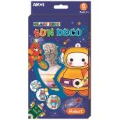 Amos Robot barvy na sklo sada 6 barev x 10,5 ml + 6 sklíček