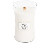 WoodWick White Teak - Bílý teak vonná svíčka s dřevěným knotem a víčkem sklo velká 609,5 g