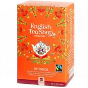 English Tea Shop Bio Rooibos Mandala 20 kusů bioodbouratelných pyramidek čaje, 40 g