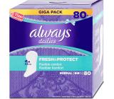 Always Dailies Fresh & Protect Normal s jemnou vůní slipové intimní vložky 80 kusů