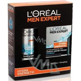Loreal Paris Hydra Energetic voda po holení 100 ml + gel na holení 200 ml, kosmetická sada