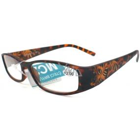 Berkeley Čtecí dioptrické brýle +2,0 hnědé vzorované retro CB02/MC2 1 kus ER6040