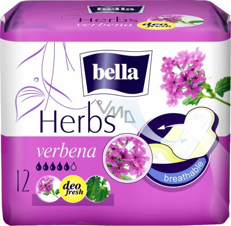 Bella Herbs Verbena intimní vložky s křidélky 12 kusů