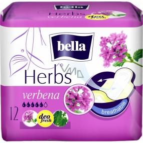 Bella Herbs Verbena intimní aromatizované vložky s křidélky 12 kusů