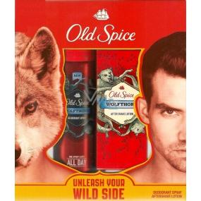 Old Spice Wolfthorn deodorant sprej pro muže 125 ml + voda po holení 100 ml, kosmetická sada