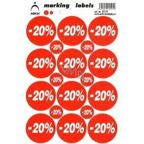 Arch Slevové etikety -20% 252-R