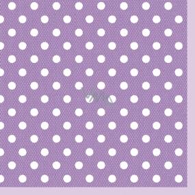 Maki Papírové dezertní ubrousky fialové 3 vrstvé 25 x 25 cm 20 kusů