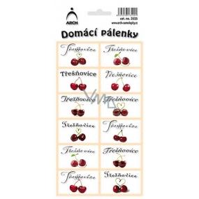 Arch Samolepky Domácí pálenky Třešňovice 3525 12 etiket