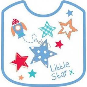 First Steps Little Star bryndák dvouvrstvý bavlna + Peva modrý 21 x 25 cm