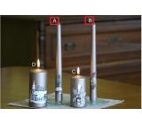 Lima Relief zimní svíčka metal světle hnědá kužel 22 x 250 mm 1 kus
