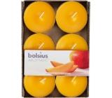Bolsius Aromatic Maxi Exotic Mango s vůní manga vonné čajové svíčky 6 kusů, doba hoření 8 hodin