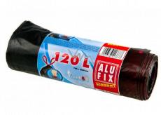 Alufix Economy Pytle na odpad zatahovací černé, 21 µ 120 litrů, 70 x 100 cm, 7 kusů