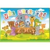 Nekupto Přání k narozeninám Vše nejlepší Zoo G46 3371 F