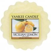 Yankee Candle Sicilian Lemon - Sicilský citrón vonný vosk do aromalampy 22 g