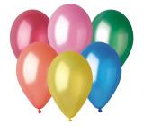 Balónky Metalické mix barev 26 cm 10 kusů