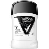 Rexona Men Invisible On Black + White Clothes antiperspirant deodorant stick pro muže 50 ml