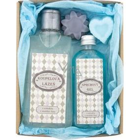 Bohemia Pro dědečka koupelová lázeň 200 ml + sprchový gel 100 ml + ručně vyráběné mýdlo 2 x 30 g, kosmetická sada