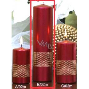 Lima Stuha svíčka červená válec 60 x 220 mm 1 kus