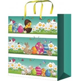 Anděl Taška velikonoční dárková M Kreslené velikonoční motivy 23 x 18 x 10 cm