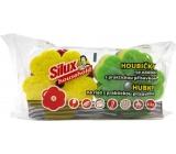 Silux Household Houbička na nádobí s praktickou přísavkou Kytička 4 kusy