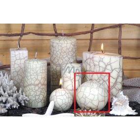 Lima Nevada svíčka slonová kost koule 80 mm 1 kus