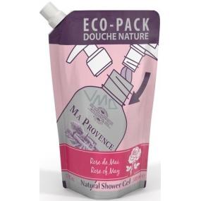 Ma Provence Bio Jarní růže sprchový gel náhradní náplň 500 ml