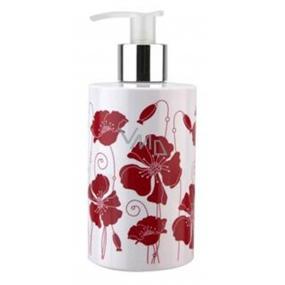 Vivian Gray Flowers Red Poppies Luxusní tekuté mýdlo s dávkovačem 250 ml