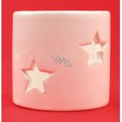 Keramický svícen s hvězdami 5,5 cm