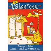 Ditipo Hrací přání K Valentýnu Dnes pro tebe udělám cokoliv melodie 224 x 157 mm