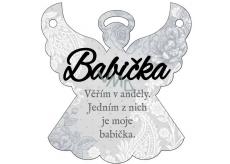 Albi Závěsná plaketka anděl Babička 9 x 10 cm