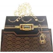 Nekupto Dárková papírová taška malá 19 x 14 x 9 cm kabelka s řetízkem 042 LCS