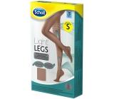 Scholl Light Legs Kompresní punčochové kalhoty S hnědé 20 den pomáhají zabraňovat pocitu únavy nohou a snižují pocit těžkých nohou