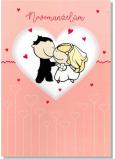 Albi Hrací přání do obálky K svatbě Novomanželé v srdíčku Báječná ženská Michal Tučný 14,8 x 21 cm