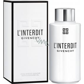 Givenchy L Interdit koupelový a sprchový olej pro ženy 200 ml