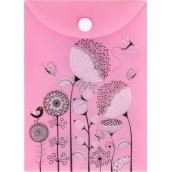 Albi Original Pouzdro na dokumenty Květy na růžovém A6 - 105 x 148 mm