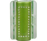 Linziclip Maxi Vlasový skřipec zelený s krystalky 8 cm vhodný pro hustší vlasy 1 kus