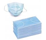 Rouška 3 vrstvová Premium netkaná jednorázová lékařská ochranná, nízký dýchací odpor 50 kusů
