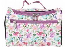 Albi Original Cestovní kosmetický kufřík Hortenzie 24 cm x 16 cm x 13 cm