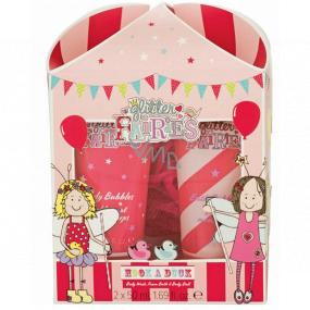 Grace Cole Hook a Duck sprchový gel 50 ml + pěna do koupele 50 ml + nylonová mycí žínka pro děti kosmetická sada