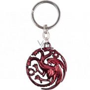 Epee Merch Hra o Trůny Game of Thrones - Targaryen Klíčenka kovová 4,5 x 6 cm